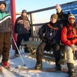 Taken on March 17th, 2008, on top of mount Bromont, a ski resort in Quebec. The group depicted is partial, as not everybody dared to brave freezing weather.
