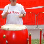 Taken on June 23, 2010 in Ottawa: Neng Liu playing drums to welcome Chinese president Hu Jintao visiting Canada